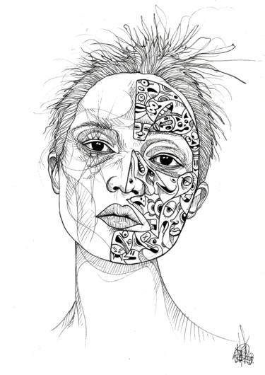 Cartoon half mask