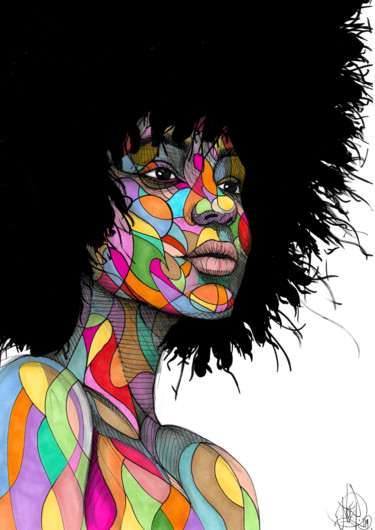 Afro colorful