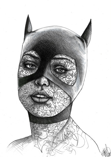 Cat Woman inked